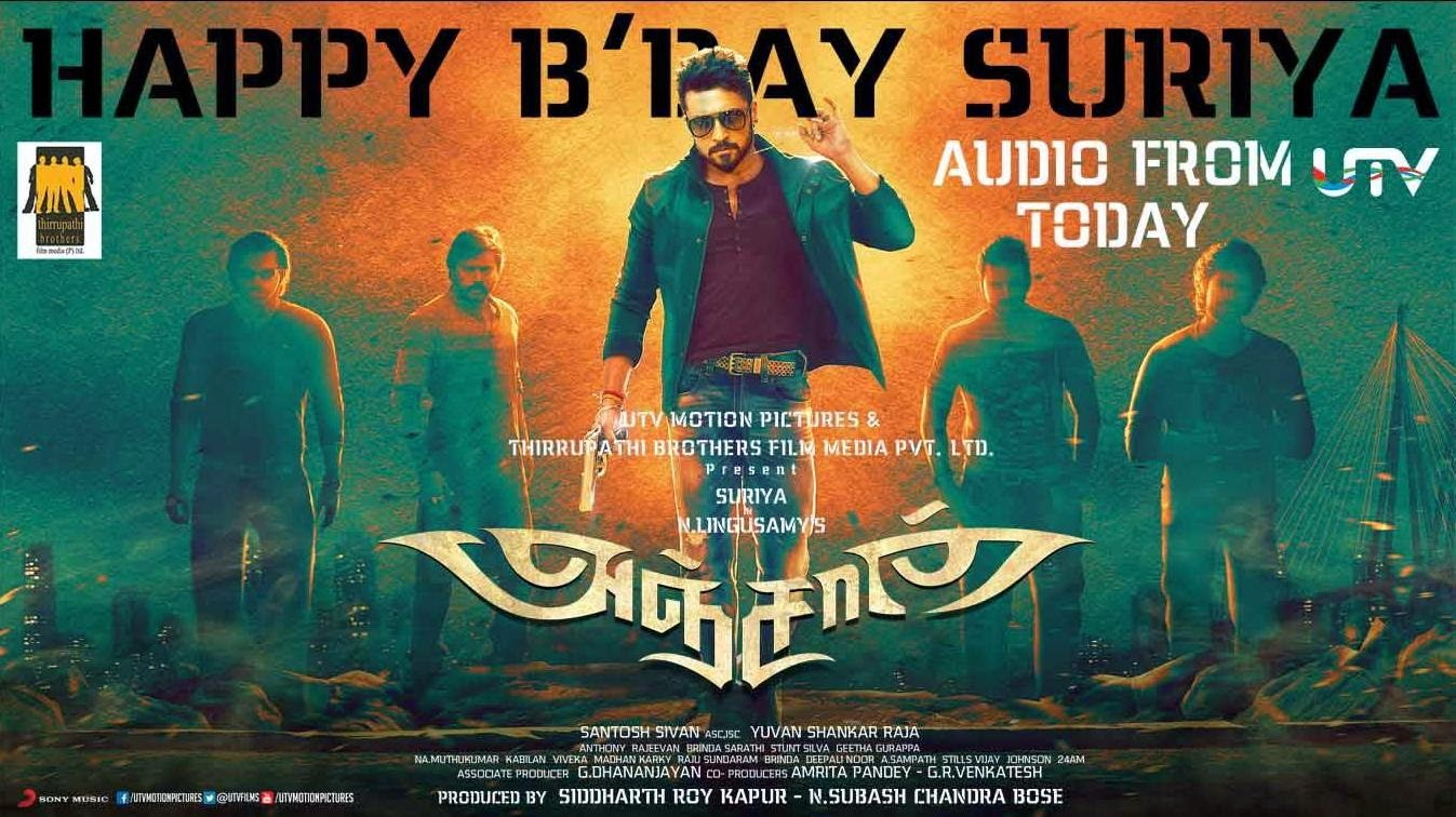 Anjaan Birthday Wishes Official Posters