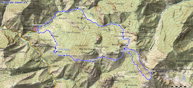 Mapa de la ruta al Maciédome