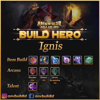Item build, arcana, dan talent untuk Ignis