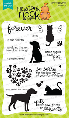 Furr-ever Friends | Dog and Cat Sympathy Stamp Set by Newton's Nook Designs #newtonsnook