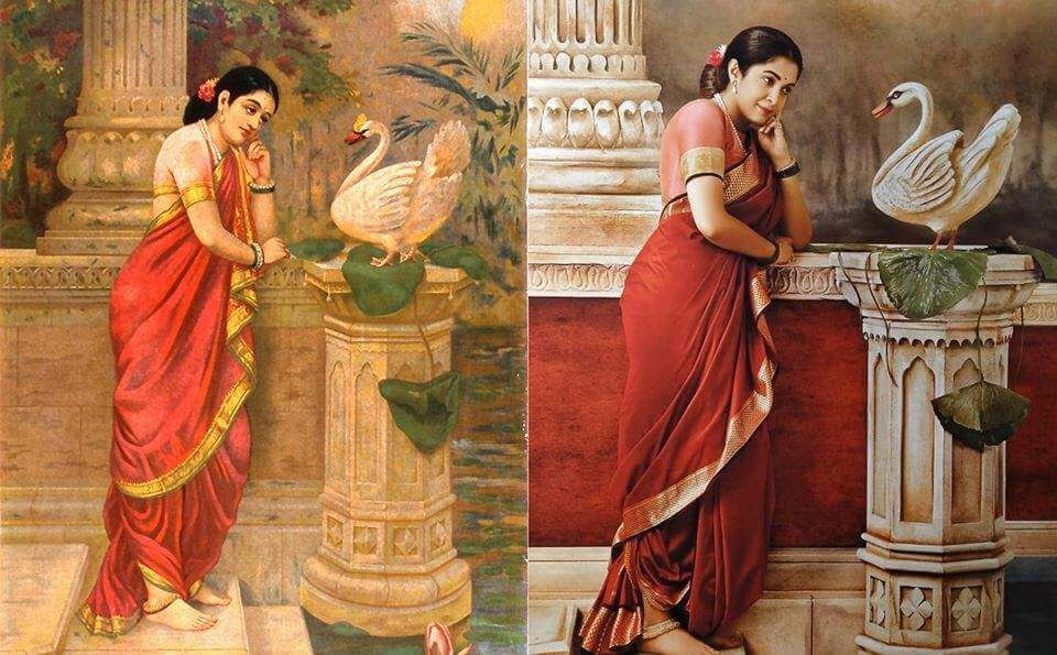 South actresses recreating iconic Raja Ravi Varma paintings for 2020 Calendar. Check out HD pictures! 4