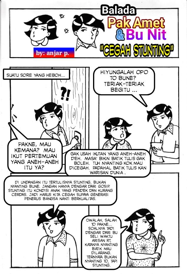 """""""Cegah Stunting"""", Komik Edisi Desember 2020 oleh Anjar Purbaningsih, SIP (PKB Kapanewon Semin)"""