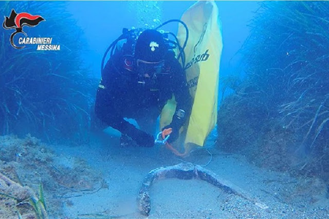 Roman anchors recovered in Sardenia and Sicily