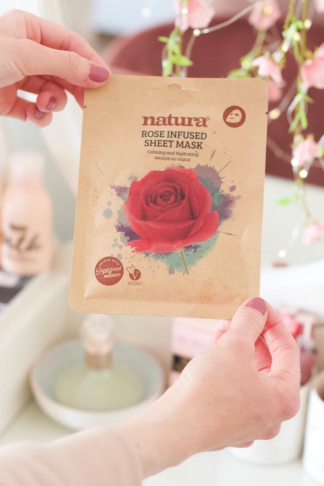 Natura Rose Infused Sheet Mask