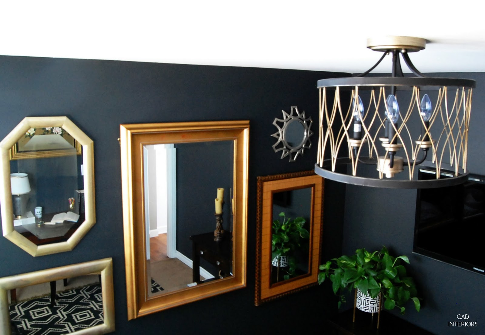 one room challenge bedroom makeover interior design decorating diy home improvement black brass modern vintage eclectic decor mirror gallery wall