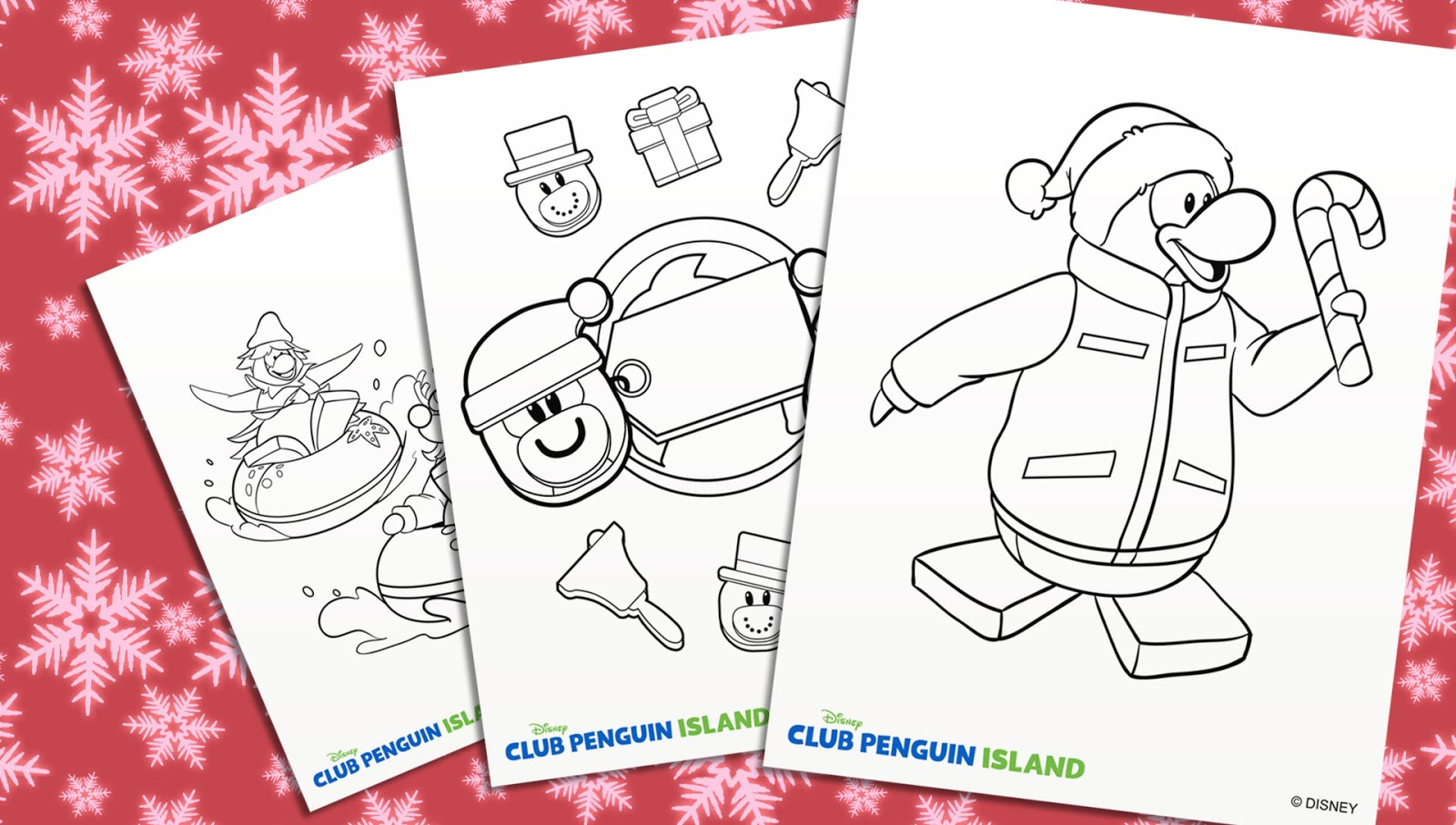 Holiday Coloring Pages | Club Penguin Island Guides, News, Stories ...