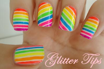 motif kutek kuku candy stripes