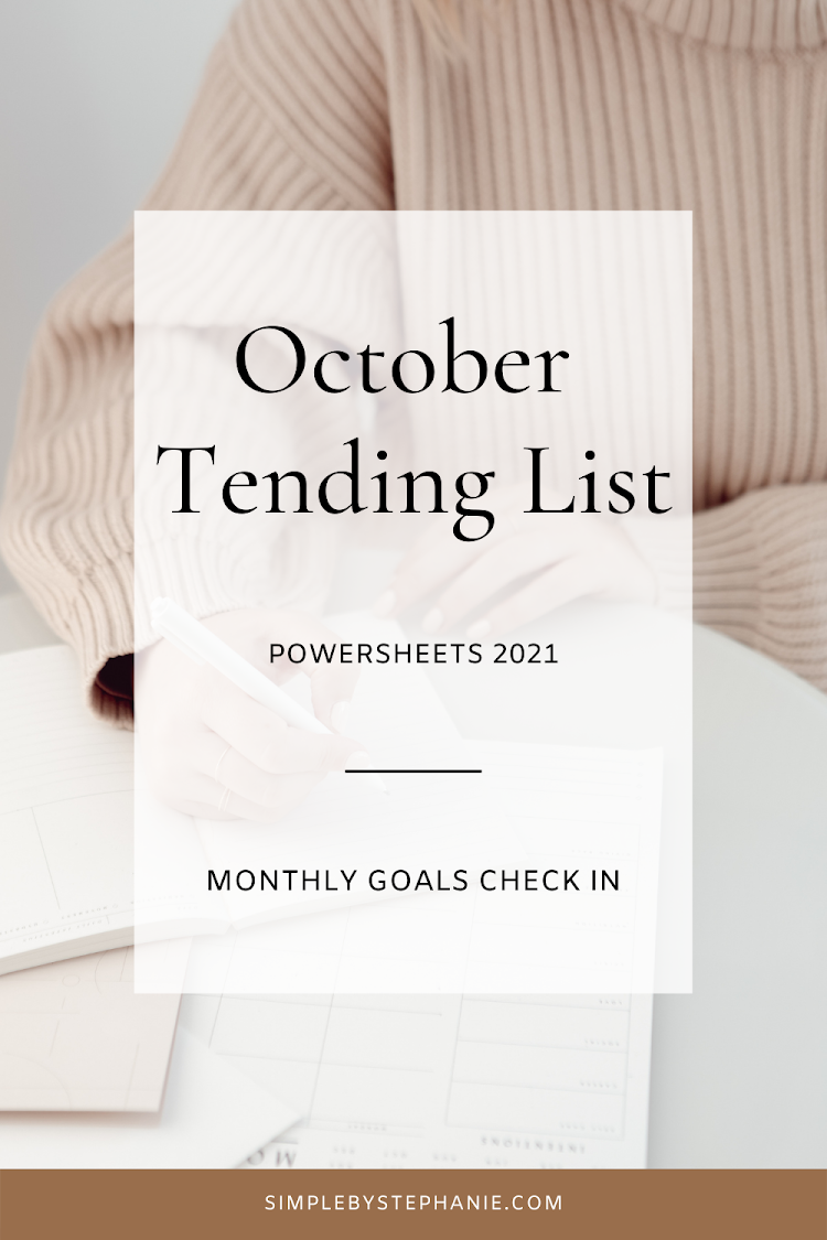 October PowerSheets (Goal Check In)