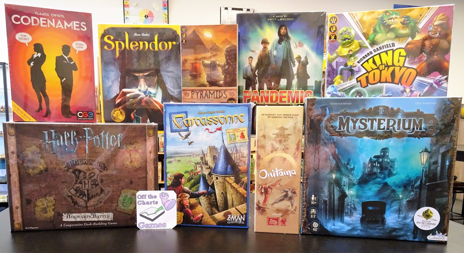 Board Game Store   EuroGames   Strategy Games   Puzzles   Off The     Most Popular Games  2017 2nd Quarter Results