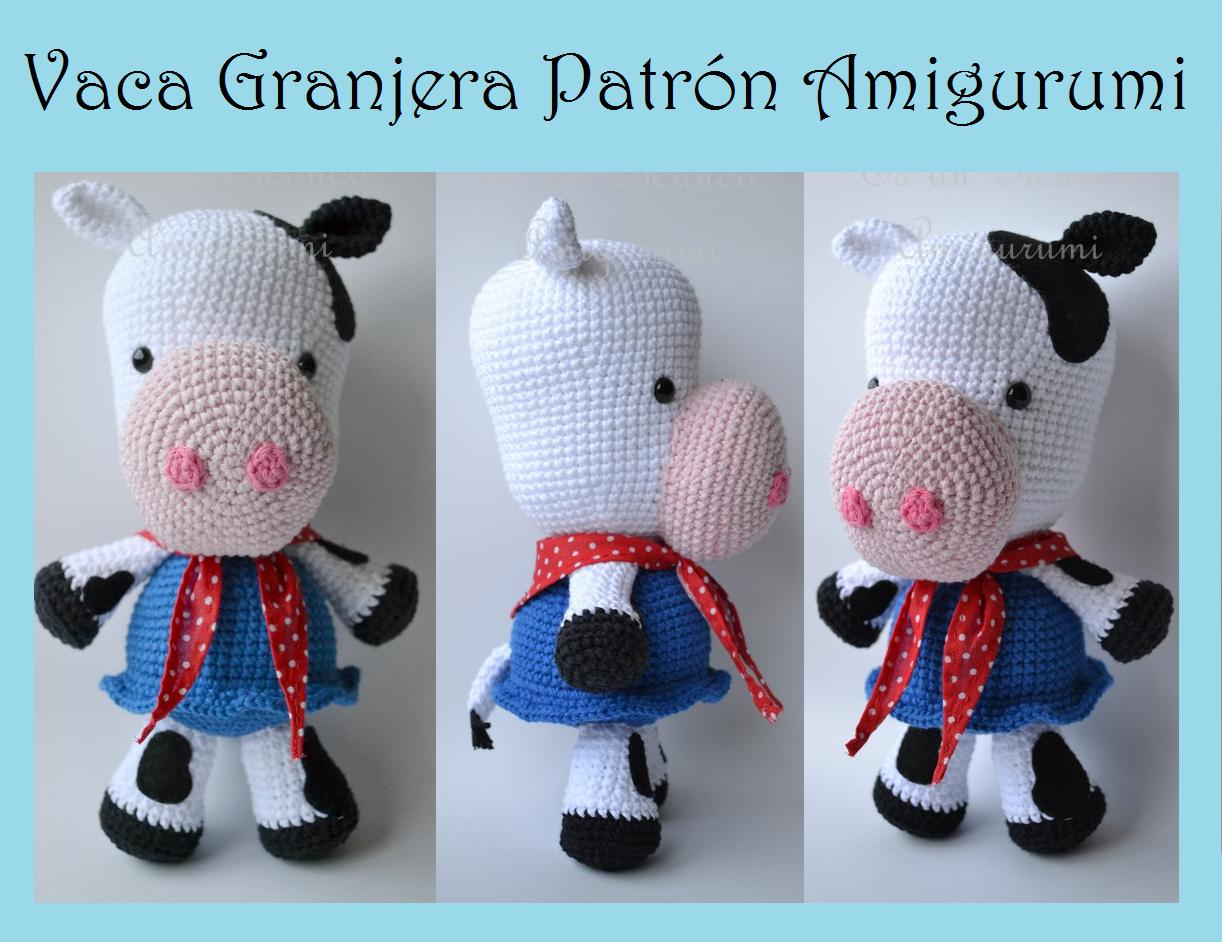 Amigurumi Vaca : Es un mundo amigurumi patrón vaca granjera