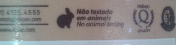 A másacara de macadâmia da Inoar não é testada em animais