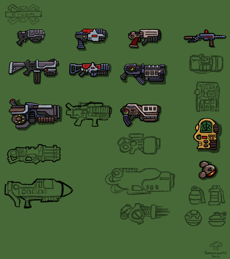 X-com weapons & equipment