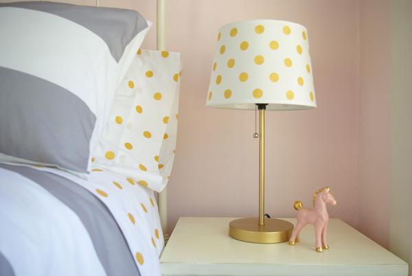 Oleander And Palm Diy Gold Polka Dot Lamp Shade