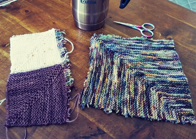 I cut off the blocks that were knit incorrectly.  Easy fix!