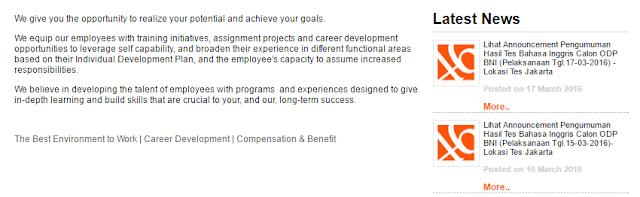 Daftar Lowongan Kerja Bank BNI Ponorogo Terbaru 2020