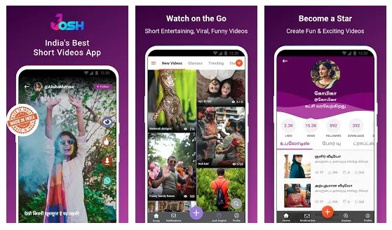 Download Josh App - Made in India Short Video Android App