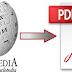 انشاء كتاب الكتروني بصيغة PDF لاي مقال من موقع ويكيبيديا