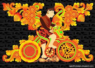 Maduwe Karang Temple Decoration Balinese Style Vector