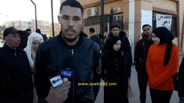 """بالفيديو ↔ الطلبة المحتجون بالشلف : """"لا تراجع إلا بتحقيق المطالب"""""""