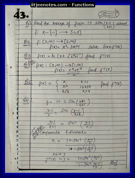 functions notes cbse3