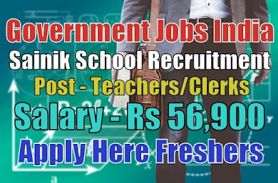 Sainik School Recruitment 2019