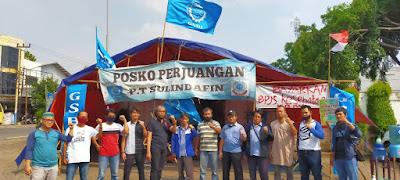Foto Bersama GSBI KFN dengan pimpinan dan anggota GSBI PT.Sulindafin