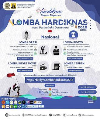 Lomba Hardiknas 2018 Udayana