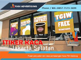 Stiker Kaca Jakarta Selatan