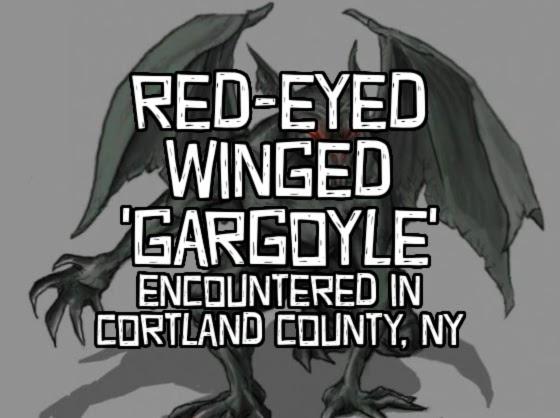 Red-Eyed Winged 'Gargoyle' Encountered in Cortland County, NY