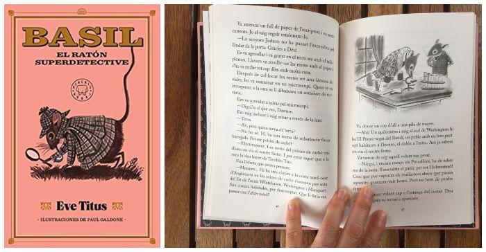 Libro infantil capítulos para primeros lectores Basil ratón superdetective