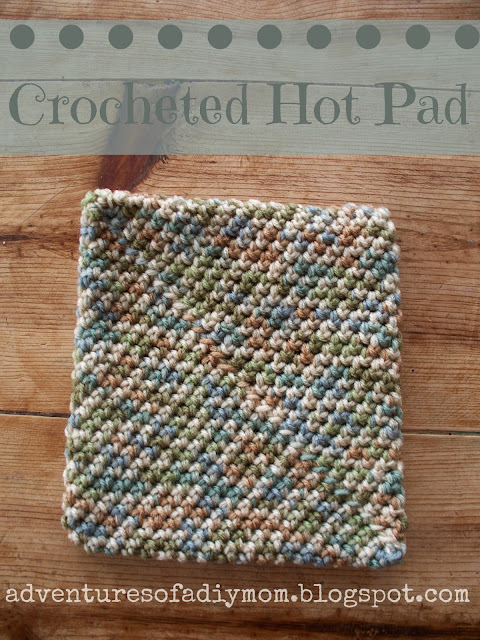 super easy crocheted hotpad