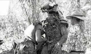 Jean Claude Van Damme en el traje del primer Depredador