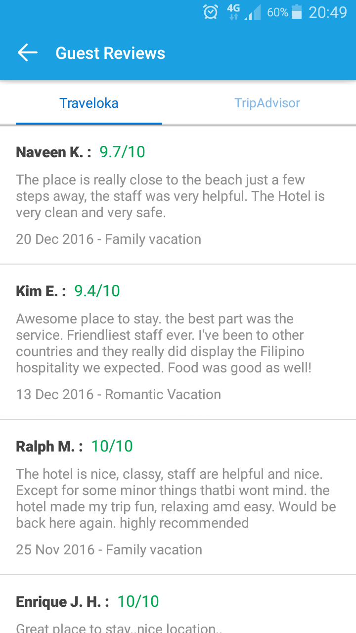 I Was Happy With The Information Traveloka App Showed Me Such As Facilities Hotel Offers Reviews Of Price And List