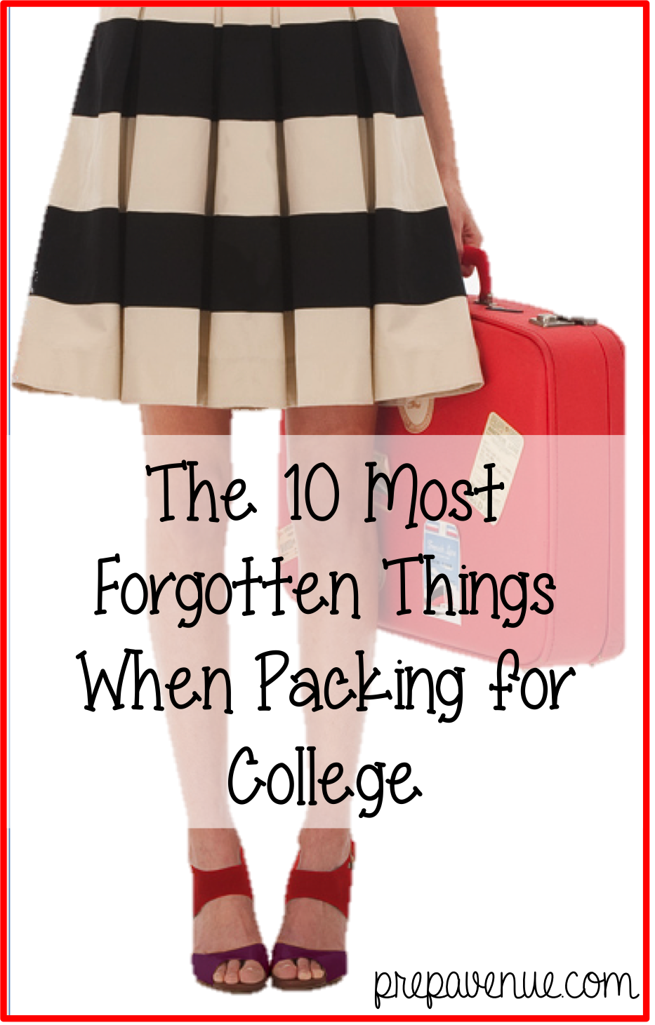 The 10 Most Forgotten Things When Packing For College