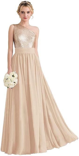 Cheap One Shoulder Chiffon Bridesmaid Dresses