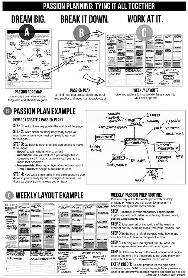 5 year goal plan template - creating the life you want with the passion planner the