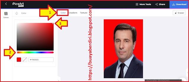 Cara mengubah background foto menjadi merah