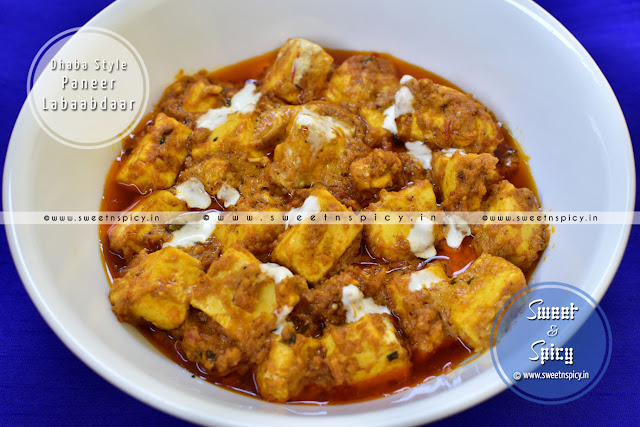 Paneer Labaabdaar for Dinner