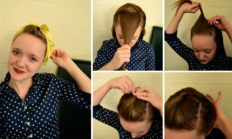 Working Woman Series 1940s Scarf Hair Tutorials Flashback Summer