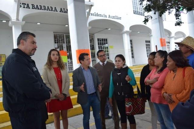 Reabre el gobierno municipal palacio auxiliar de Santa Barbara Almoloya; se reactivan servicios