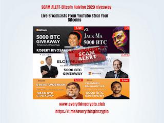 Scam alert-Bitcoin Halving 2020 giveaway