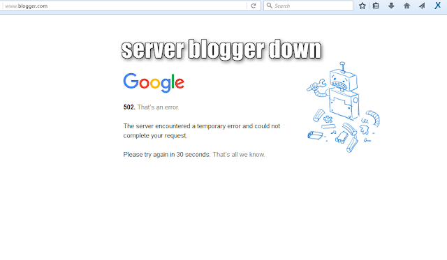 server blogger down - blog