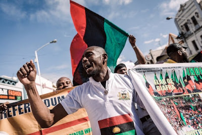 IPOB Members Vows To Deal With Buhari In South Africa, Police Open Fire On Protesters