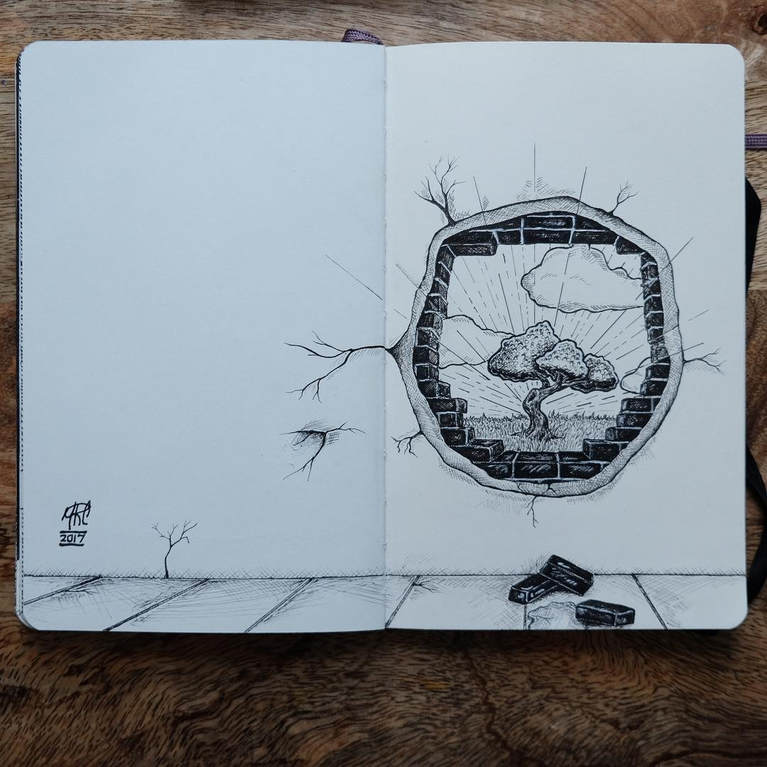 14-Brighter-Landscape-beyond-the-Wall-mrc_artworks-Sketching-Inspirations-on-a-Moleskine-Notebook-www-designstack-co