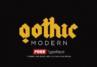 Gothic-Modern-Typeface-font