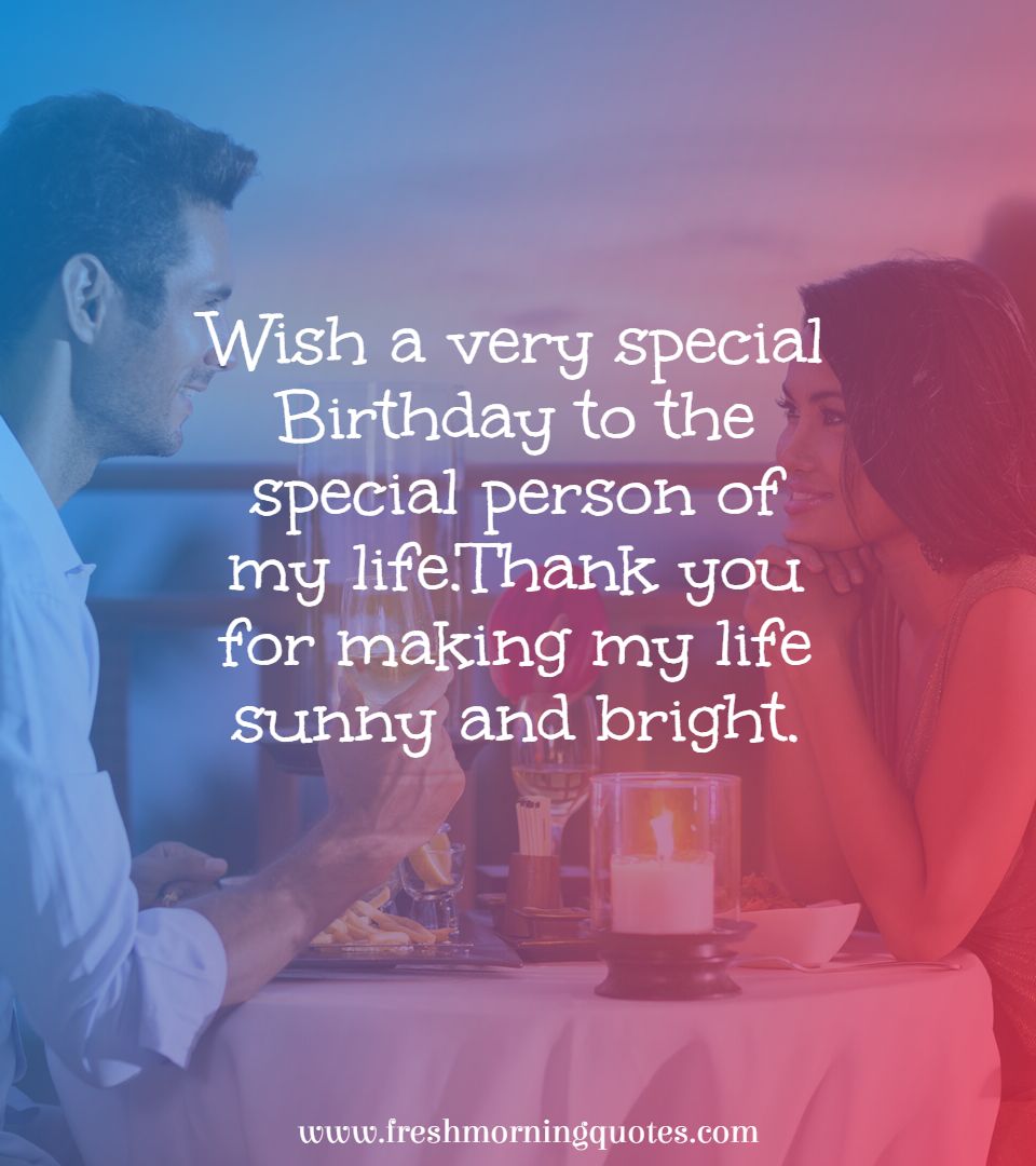 wish a very special birthday to the special person