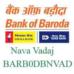 New IFSC Code Dena Bank of Baroda Nava Vadaj