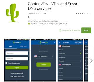 cactusVPN untuk Android