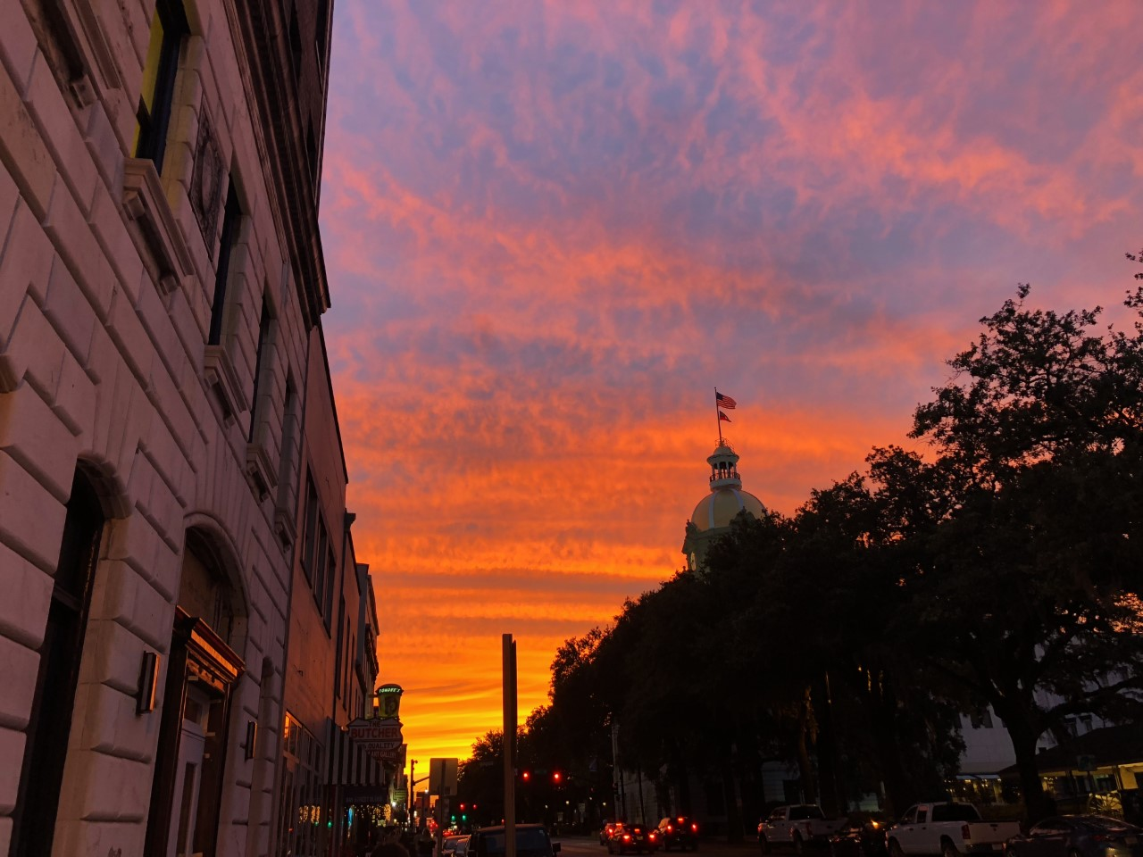 Sunset in Savannah