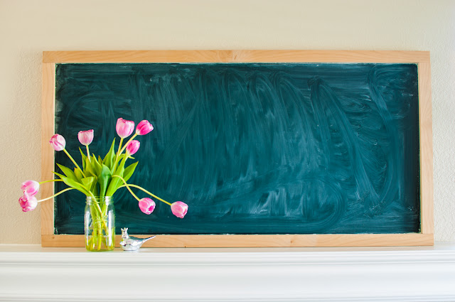 Farmhouse Style Wood Framed Chalkboard DIY